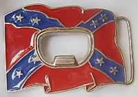 Bottle Opener Confederate Belt Buckle
