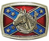 Horse Confederate Belt Buckle