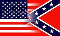USA & Confederate Blended - 3'X5' Rebel Flag Polyester