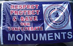 Save Our Confederate Monuments - 3'X5'  Confederate Flag Polyester