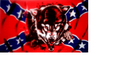 Wolf- 3'X5' Rebel Flag Polyester