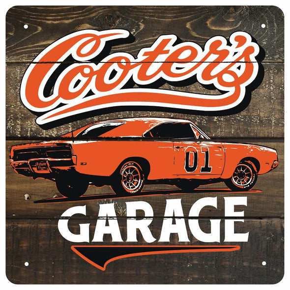 Cooter's Garage Classic Wooden Sign (12 X 12)