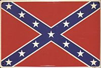 Confederate Flag Metal Sign (12 X 18)