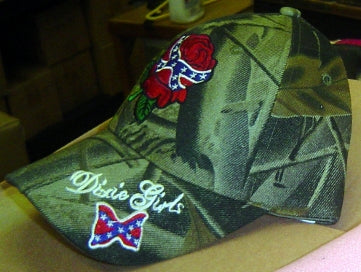 Confederate Dixie Girls With Rose Hat Camo