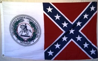 CSA Seal - 3'X5' Rebel Flag Polyester