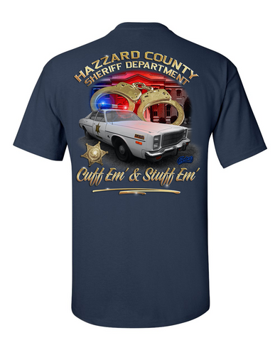 Hazzard County Sheriff Cuff'em & Stuff'em T-Shirt