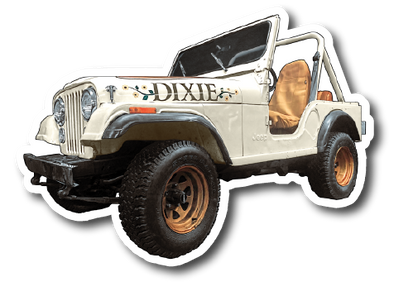 Die Cut Magnet Dixie Jeep