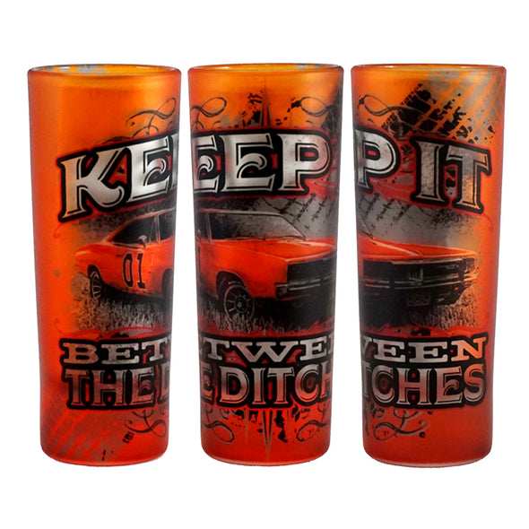 Cooter's Keep it Between the Ditches Shooter Glass
