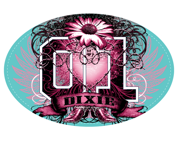 Sticker Dixie Tattoo Oval