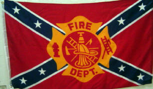 Fire Dept - 3'X5' Rebel Flag Polyester