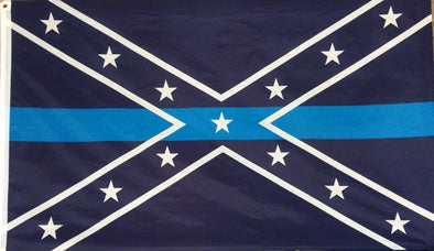 Blue Lives Matter - 3'X5' Confederate Flag Polyester