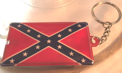 Rebel Flag Flashlight Key Chain