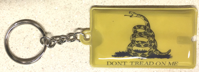 Don't Tread Flag Flashlight Key Chain yellow