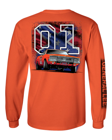 "Cooter's ""General Lee W/Flag 01"" Long Sleeve Tee"