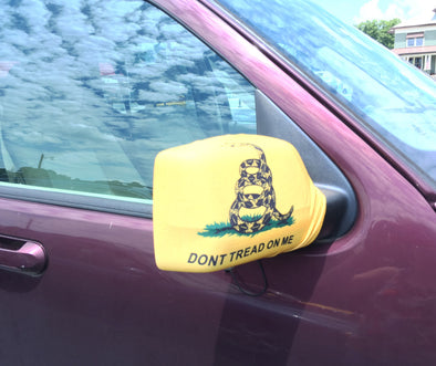Rear View Mirror Cover Don't Tread On Me