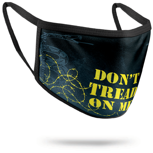 Don't Tread on Me 3-Layer Face Mask (washable facemask) Made in USA