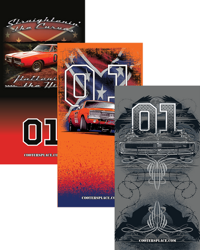 Gaiter Collection General Lee Tattoo, General Lee W/Flag & Straightin Curves