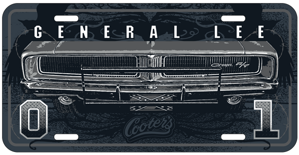 General Lee Tattoo License Plate