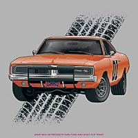 Temp Tattoo General Lee tire track