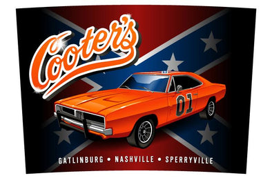 Magnet Cooter's General Lee With Rebel Flag