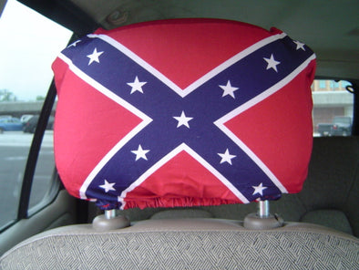 Headrest Cover Confederate Flag