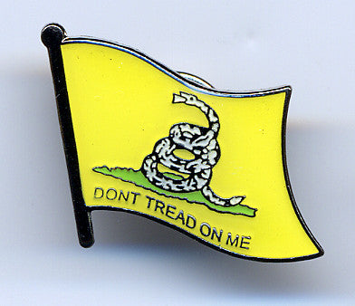 Wavy Don't Tread on Me Gadsden Hat Pin