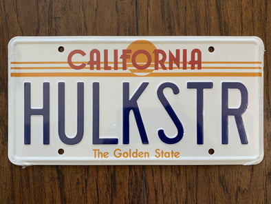 Hulkstr License Plate
