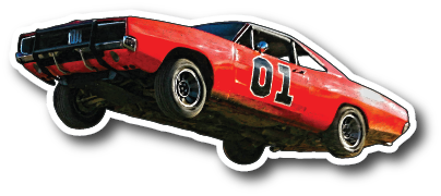 Die Cut Magnet Jumping General Lee