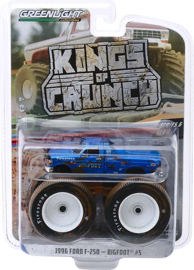 1:64 Kings of Crunch Series 6 - Bigfoot #5 - 1996 Ford F-250 Monster Truck (Dirty Version) Solid Pack
