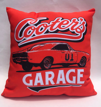 Throw Pillow Cooter's Garage Classic
