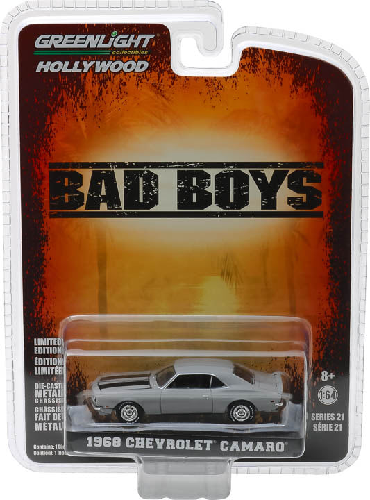 1:64 Hollywood Series 21 - Bad Boys (1995) - 1968 Chevrolet Camaro Solid Pack