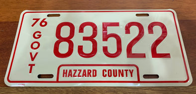 Govt 83522 License Plate (Rosco's Sheriff Car)