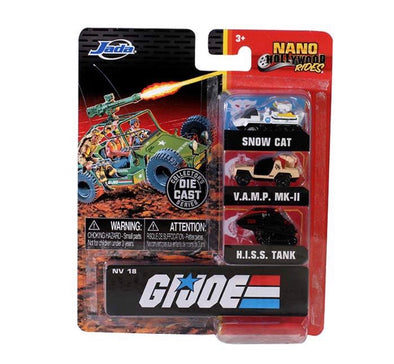 "Nano Hollywood Rides - 1.65"" G.I. Joe (3-Pack)"