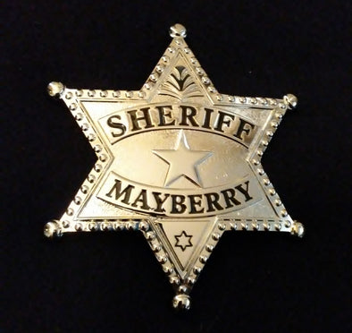 Andy Taylor (Andy Griffith) Mayberry Sheriff prop replica Badge from The Andy Griffith Show