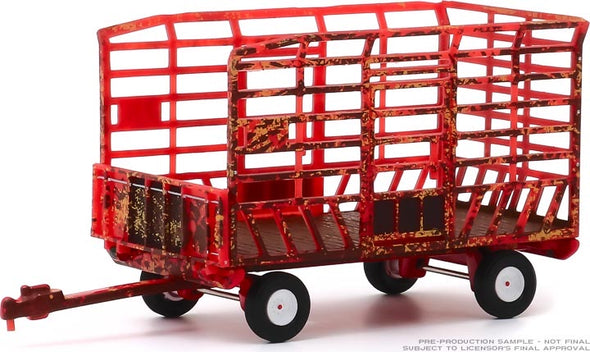 1:64 Down on the Farm Series 4 - Bale Throw Wagon - Weathered Solid Pack