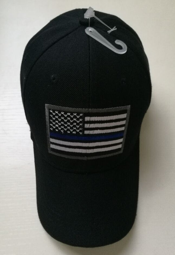 USA Blue Line Embroidered Hat
