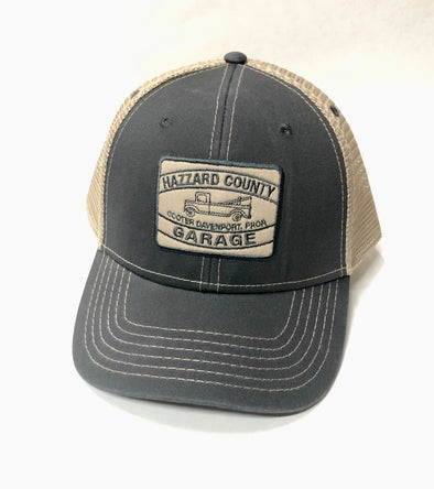Cooter's Garage Tow Truck Trucker Hat Grey ht33