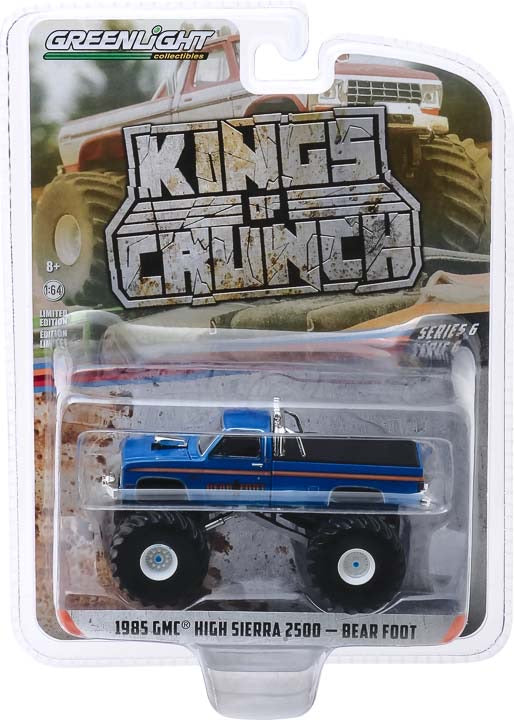 1:64 Kings of Crunch Series 6 - Bear Foot - 1985 GMC High Sierra 2500 Monster Truck Solid Pack