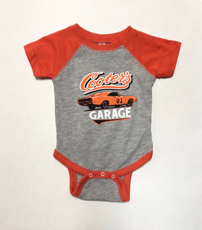 Baby Onesie Cooter's Garage Classic (Grey/Orange)