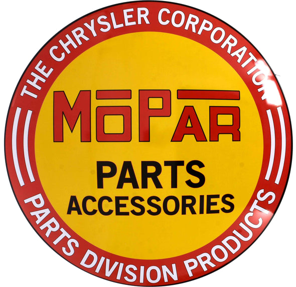 Domed Metal Sign Mopar Parts Accessories