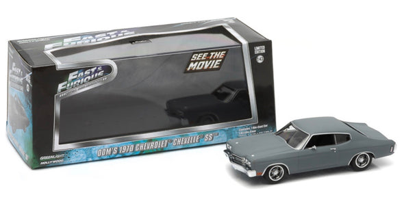 1:43 Fast & Furious (2009) - 1970 Chevy Chevelle SS (Primer Gray)