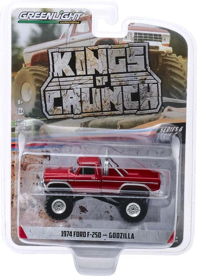 1:64 Kings of Crunch Series 6 - Godzilla - 1974 Ford F-250 Monster Truck Solid Pack
