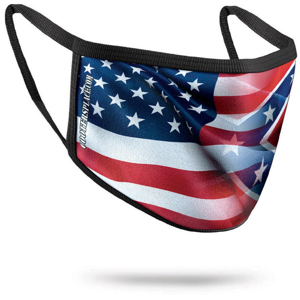 Flag BLENDED Face Cover (washable) Made in USA