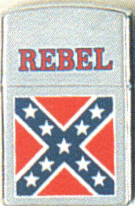 CONFEDERATE FLAG LIGHTER (SILVER) Rebel