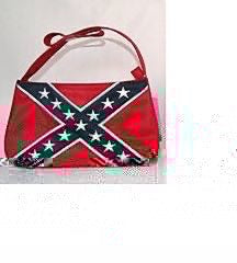 CONFEDERATE BATTLE FLAG PURSE (RED)