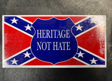 Confederate Heritage Not Hate Road Sign Bumper Sticker