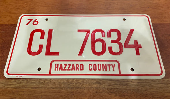 CL 7634 License Plate (Uncle Jesse's Truck)