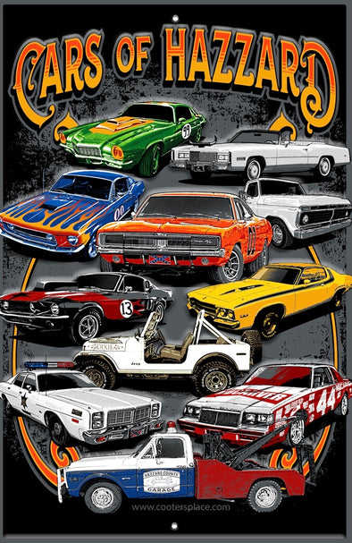 Postcard Cars of Hazzard