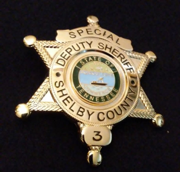 "Elvis Presley ""Special"" Deputy Sheriff Shelby County Actual #3 Replica Badge"