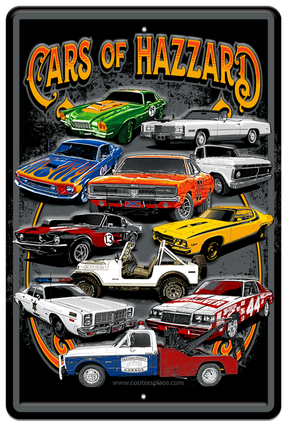 Cars of Hazzard Pillow Case